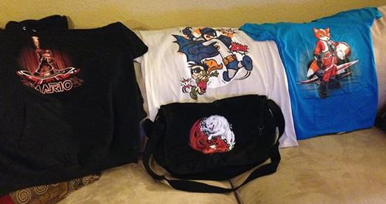 Shirts and messenger bag