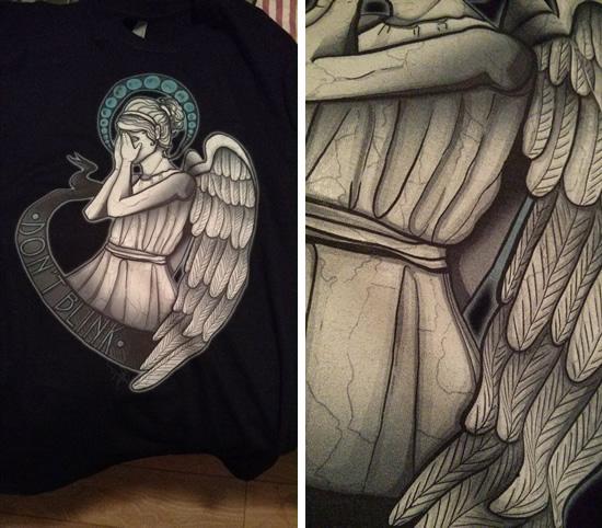 Details of angel artwork