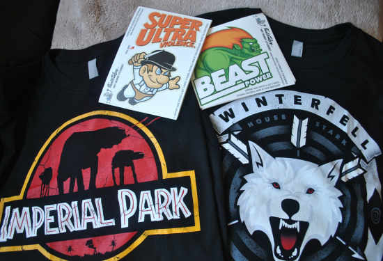 Shirts and stickers