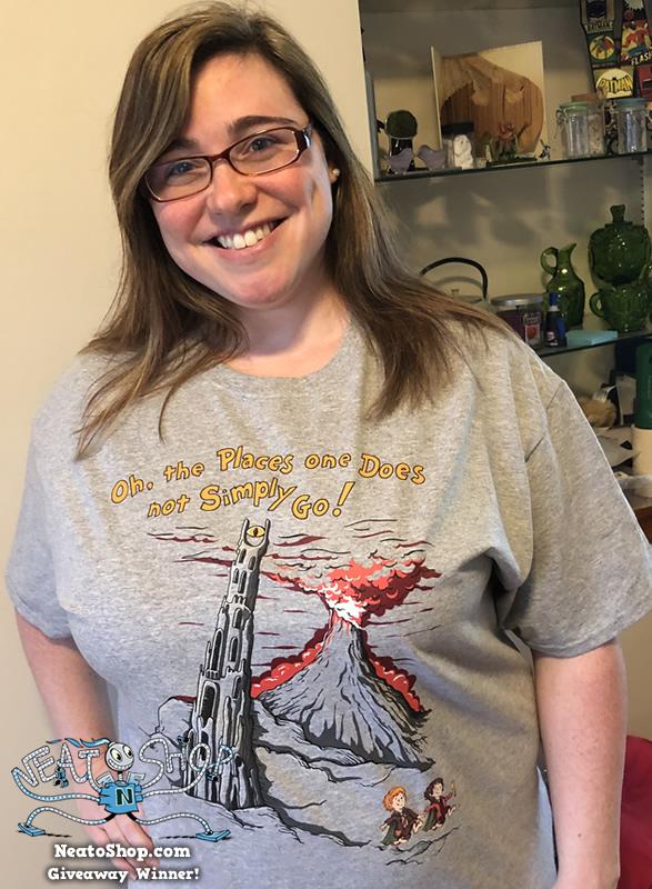 Kristin wearing fantasy design shirt