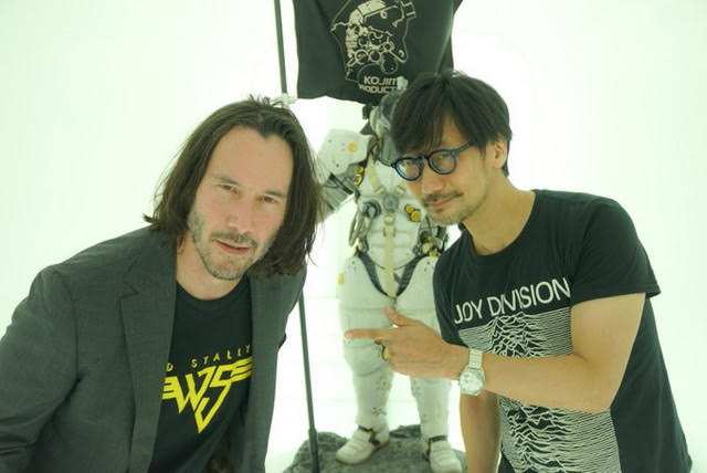 Keanu and Hideo wearing shirts by Retro Review