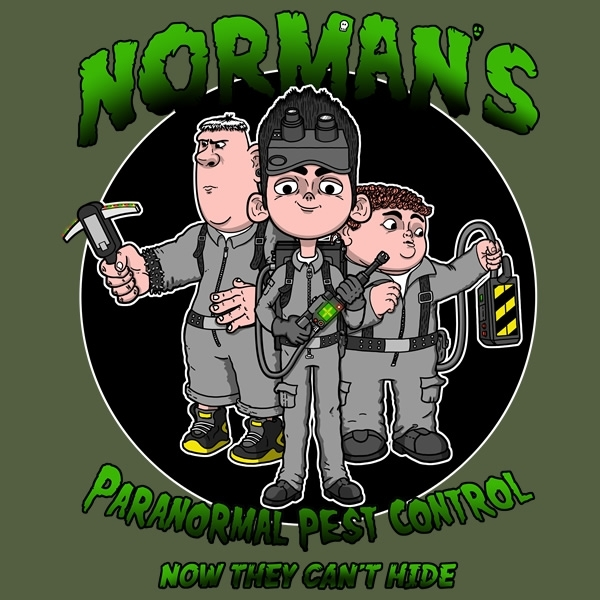 Norman's Paranormal Pest Control. T-Shirt